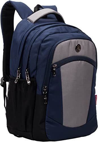 Multipurpose Backpack Bag - Cosmus Madison Navy Blue 33L Water Resistance Bag with Laptop Compartment