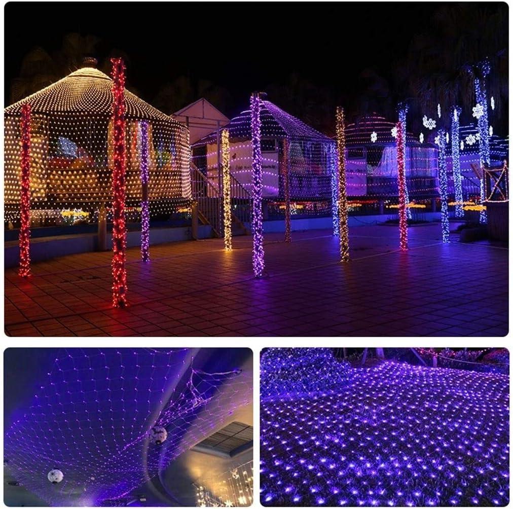 ASKLKD LED Nettoschnur-Licht, Lampen-warmes Weiß Fischen-Fee-Lampen Weihnachten Im Freien Wasserdichten Led Heiligen Dekorative Lampe Laterne Starry Vorhang 220V (Color : C-3mx2m 192led) D-8mx10m 2600led