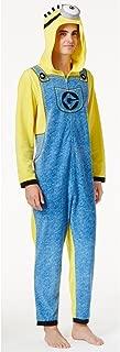 Men's Minions Hooded Costume Pajama Jumpsuit, Large