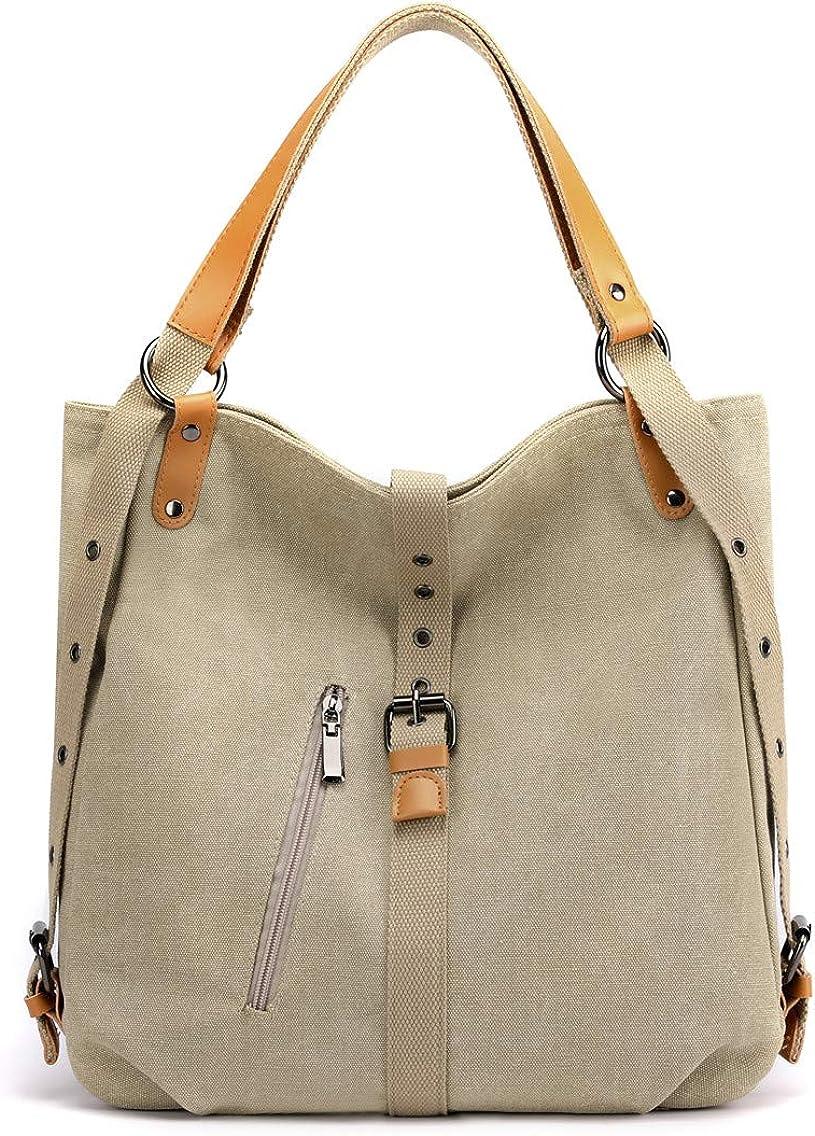Women's Fashion Purse Backpack Canvas Multipurpose Design Handbags and Shoulder Bag School Hobo Travel bag
