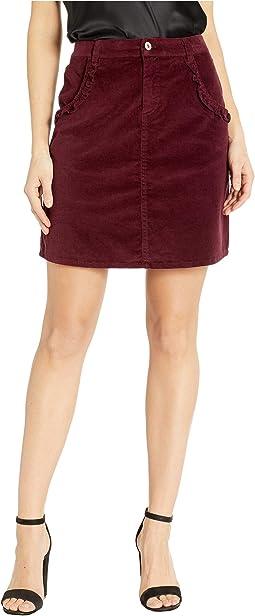 Ruffled Corduroy Skirt