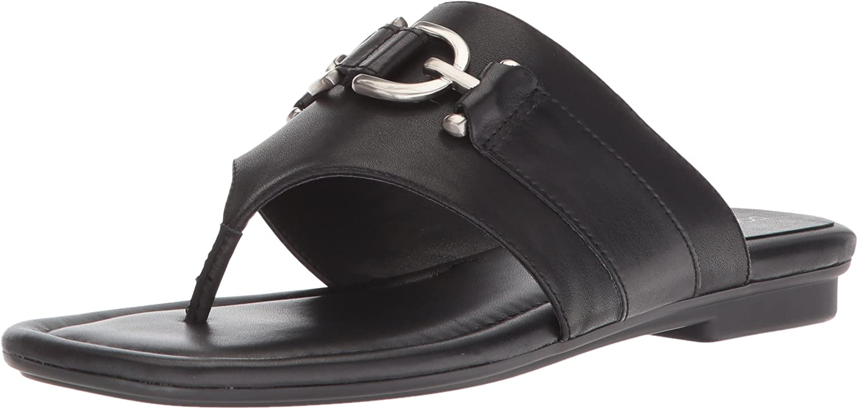 Donald J Pliner Womens Kent Leather Thong Slide Sandals