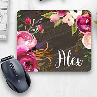 Rustic office  Floral mouse pad  Country Office decor  Floral Office  Farmhouse office  Personalized Mouse Pad  Personalized office gift