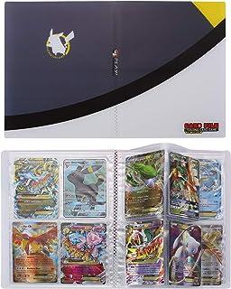Pokemon Cartas Álbum, Comercio Tarjeta Álbum, Pokémon Titular de Tarjetas Collection Handbook, Pokemon Cards Album Protección (Gris)