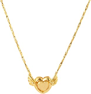 CULOVITY Gold Filled Pendant Necklaces Leaf Clover Elephant Phoenix Jewelry Twisted Singapore Chain for Women Girls