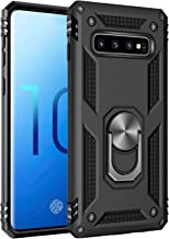 Samsung Galaxy S10 Case, Extreme Protection Military Armor Dual Layer Protective Cover with 360 Degree Unbreakable Swivel Ring Kickstand for Samsung Galaxy S10 Black
