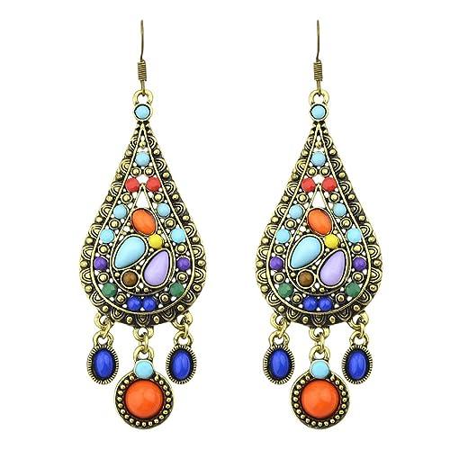 1e0aa6b56 Bohemian Vintage Tassels Dangle Earring Fashion Boho Earrings for Women  Girls