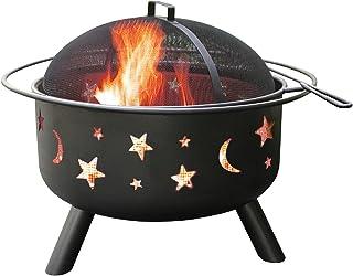 Landmann 28345 Big Sky Sternen und Monden Feuerstelle, schwarz