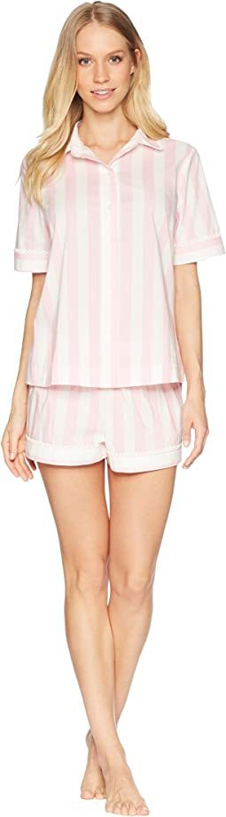Kate Spade New York Bay Stripe Short Pajama Set