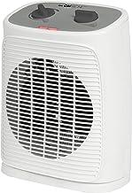 Clatronic Calefactor HL 3762, portátil y compacto, 2 niveles de calor (1000/2000 W), oscilante (desconectable), nivel frío (ventilador), color blanco