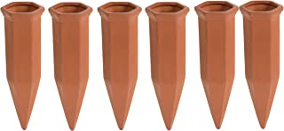 Juvale Self Watering Spikes - 6-Pack Terracotta Plant Watering Stakes, Automatic Slow Release Water Drippers for Indoor Ou...