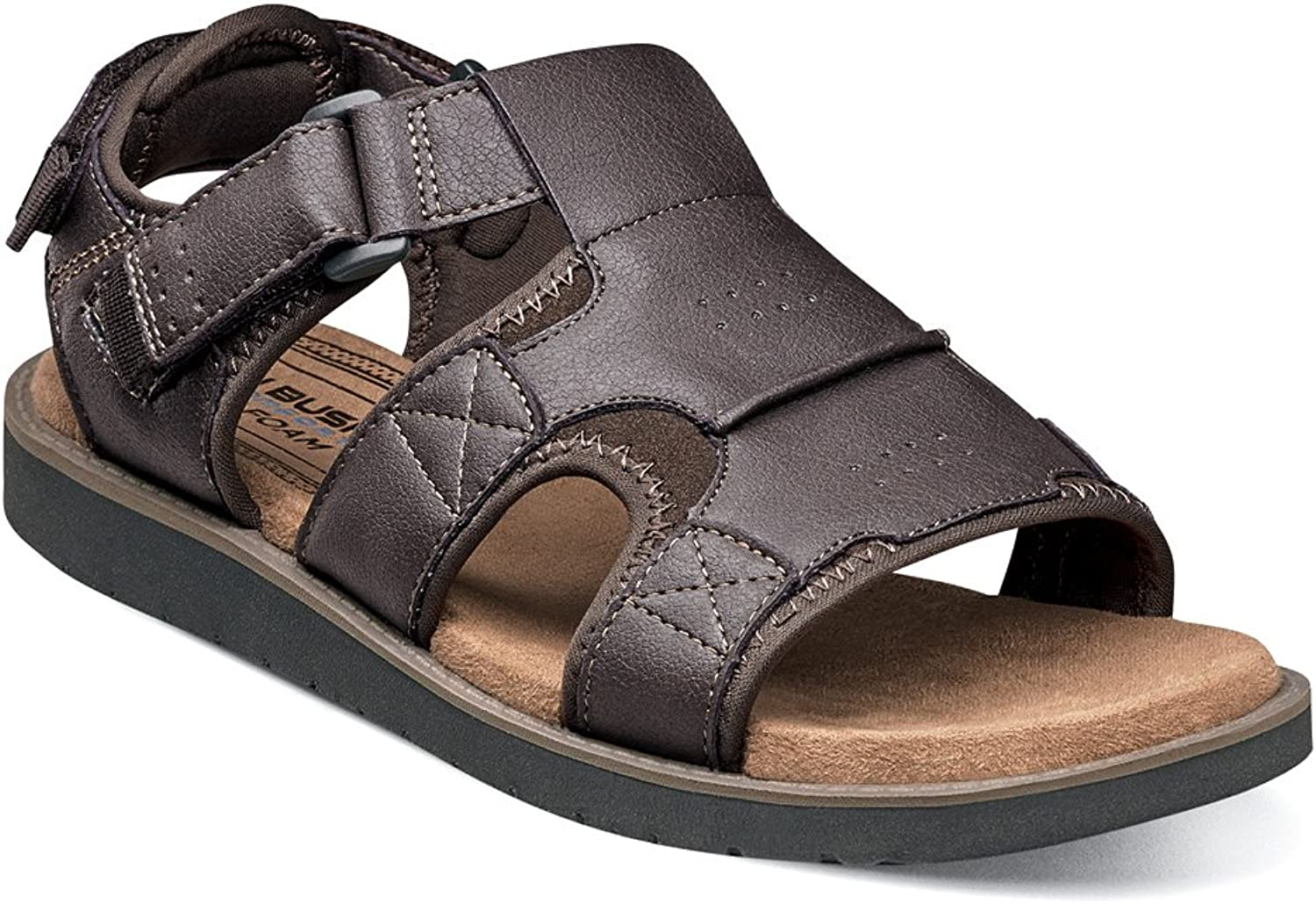 Nunn Bush Men's Boardwalk Fisherman Sandal Brown Crazy Horse 13 M