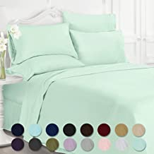 Swift Home Luxury Bedding Collection, Ultra-Soft Brushed Microfiber 6-Piece Bed Sheet Sets, Extremely Durable - Easy Fit - Wrinkle Resistant - (Includes 2 Bonus Pillowcases), Full, Mint