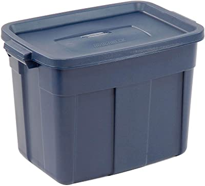 Rubbermaid RMRT180006 Roughneck Storage Tote, 18-Gallons - Quantity 12