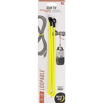 64-Inch Reusable Rubber Twist Tie Nite Ize Original Gear Tie Bright Orange Made in the USA GT64-31-R6