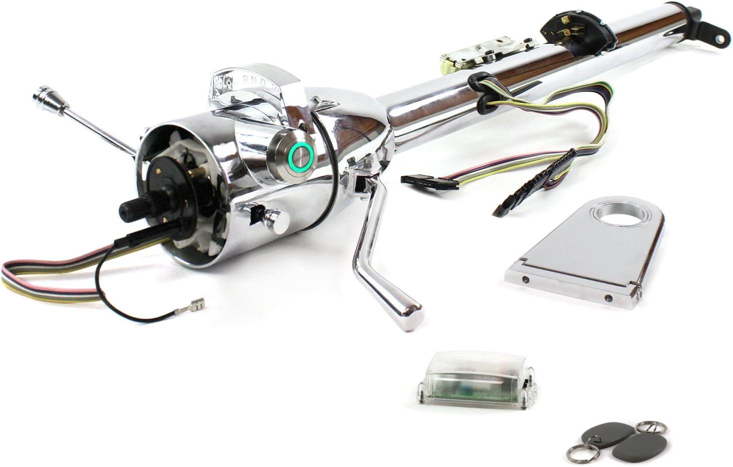 Helix 704355 Steering Column Nashville-Davidson Mall Latest item Chrome - Shift D Dro 5.5