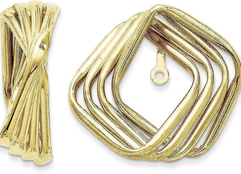 Finejewelers 14k Yellow Gold Polished Fancy Earring Jackets