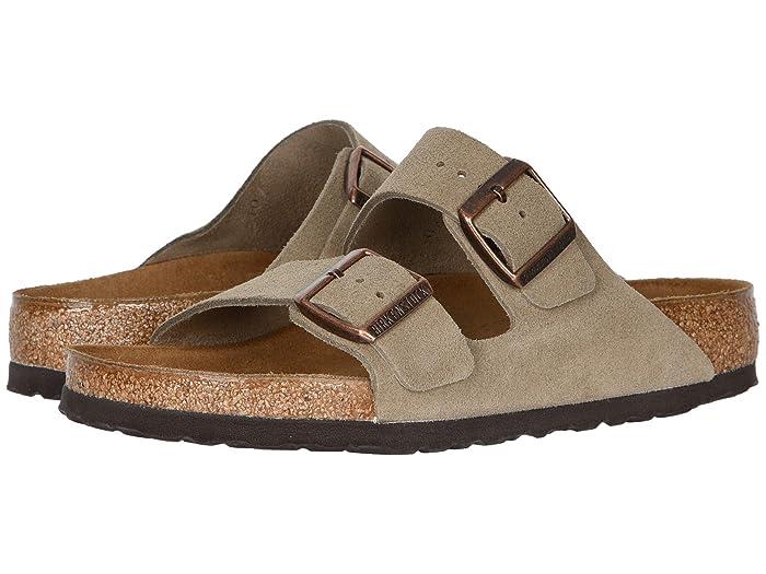 Birkenstock  Arizona - Suede (Unisex) (Taupe Suede) Sandals