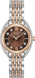 Bulova - Reloj Analógico para Mujer de Cuarzo con Correa en Acero Inoxidable 98R230