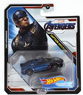Hot Wheels Character Cars Captain America Marvel Avengers First Appearance