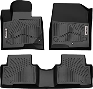 OEDRO Custom Fit Floor Mats Fit for 2013-2018 Hyundai Santa Fe, Black TPE All Weather Front & 2nd Seat Floor Liners (5-Passenger Model)