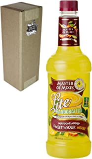 Master of Mixes Sweet N' Sour Lite Drink Mix, Ready To Use, 1 Liter Bottle (33.8 Fl Oz), Individually Boxed