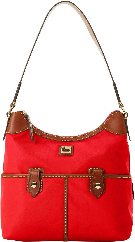 Dooney & Bourke Nylon Zip Hobo Bag - Red