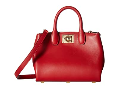 Salvatore Ferragamo The Studio Mini Handbag (Lipstick) Handbags