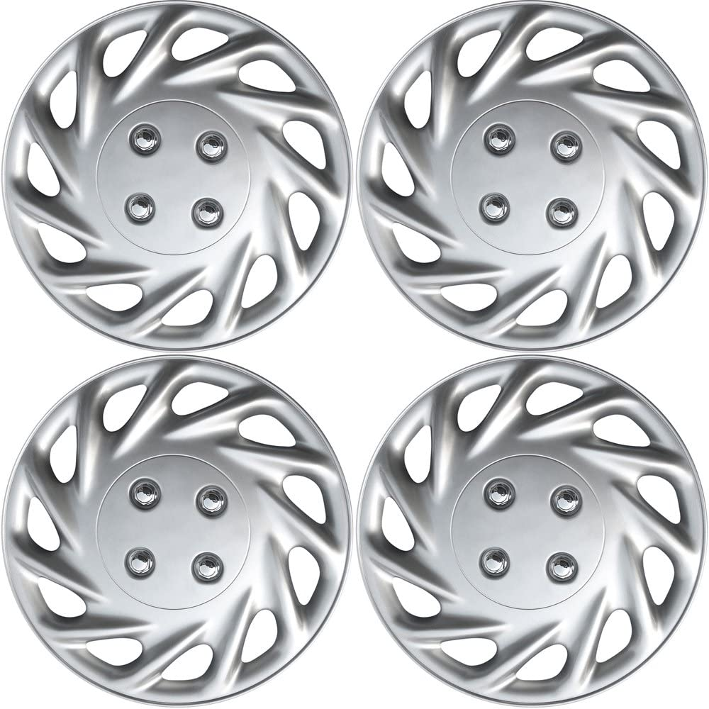OxGord Hubcaps for 13 Inch Wheels Pack - Wheel 4 Don't miss the campaign Max 84% OFF Sil of Covers