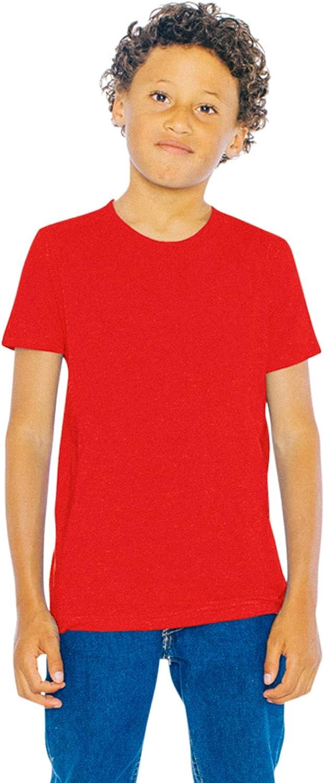 American Apparel Kids' Fine Jersey Crewneck Short Sleeve T-Shirt