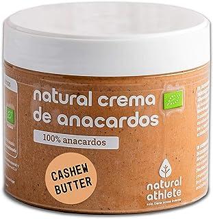 Crema de Anacardos Natural Athlete 100% Anacardo Sin Azúcar, Sin Aceite de Palma, Sin Gluten- 300 g