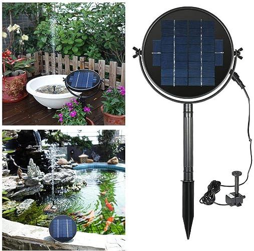 ZHANG Fontaine d'eau perhommeente Solaire 9V 2W 3W pour Aquarium Fontaine de Bassin d'étang de fontaines d'aquarium Jardin