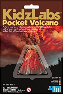 4M KidzLabs Pocket Volcano, DIY Chemistry Geology Lab Experiment - STEM Toys Educational Gift for Kids & Teens, Girls & Boys