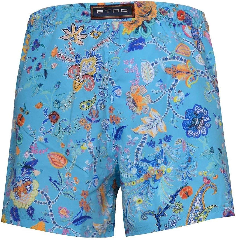 Etro Men's 1B1004771251 Light blueee Polyester Trunks