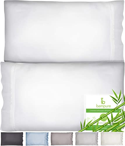 lowest BAMPURE Pillowcase Queen Bamboo Pillow Case Queen Size (20x30) - 100% outlet sale Organic Bamboo Large Pillow Cases Cooling Pillowcase Cooling Pillow Cases Cool Pillow Cases Set of 2 online sale Pillowcases White online