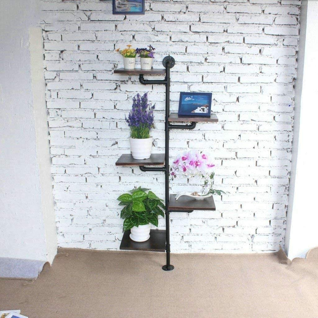 HTDZDX Iron Retro Water Pipe Solid - Shelf Cheap SALE Start Max 68% OFF Wood Shoe Layer Multi