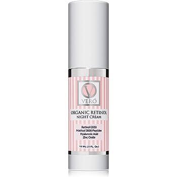 Organic Retinol Night Cream | V.VERO Anti-Aging Natural Skin Care With Hyaluronic Acid | Hydrating Face Moisturizer