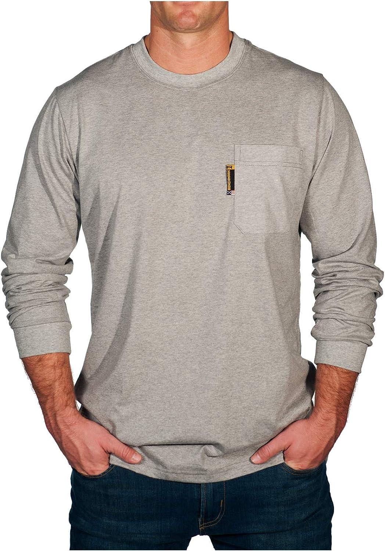 BENCHMARK FR Flame Regular dealer Arlington Mall Resistant Long Pocket T-Shirt Sleeve Made w