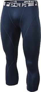 TSLA Men's Thermal Wintergear Capri Shorts Compression Baselayer Tights