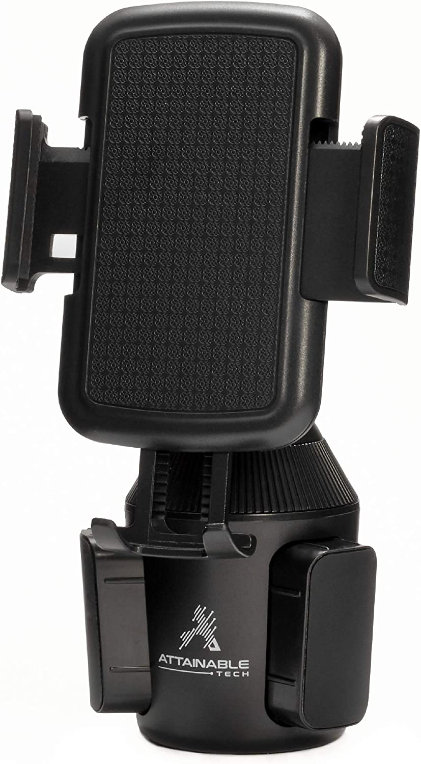 Swivel Cell Phone Car Mount for iPhone ATTAINABLE TECH Universal Car Phone Holder Low Profile Cup Holder Phone Mount Wont Obstruct Your View While Driving Samsung Galaxy Note Max /& More