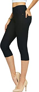 Conceited Premium Jeggings for Women - Full and Capri Length - Regular and Plus Sizes - Breathable Cotton Blend