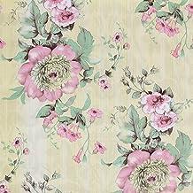 Taogift Vinilo Decorativo Autoadhesivo para Muebles Florales Vintage, Papel Tapiz para estantes, para gabinetes de Cocina,...
