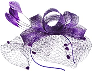 KAINSY Fascinators قبعة للنساء، قبعة حفلة الشاي زهرة كوكتيل شبكة أغطية الرأس