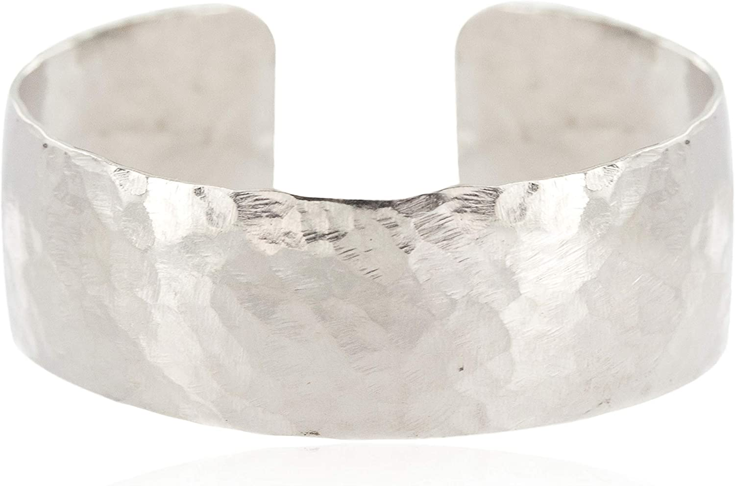 $100Tag Hammered Nickel Navajo Certified Native American Cuff Bracelet 13005 Made by Loma Siiva
