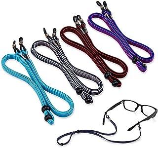 Sponsored Ad - SCWJTF Eyeglass Straps, 4PCS Premium Nylon Adjustable Eyewear Retainers, Anti-slip Eyeglass Lanyard, Sport ...