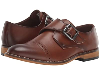 Stacy Adams Kids Desmond Cap Toe Monk Strap (Little Kid/Big Kid) (Cognac) Boys Shoes