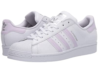 adidas Originals Superstar W (Footwear White/Purple Tint/Silver Metallic) Women