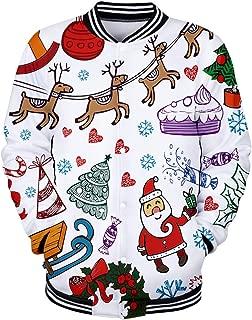 Christmas Hoodies for Men, Alalaso Men's Lightweight Fitted Hoodie Hooded Sweatshirt