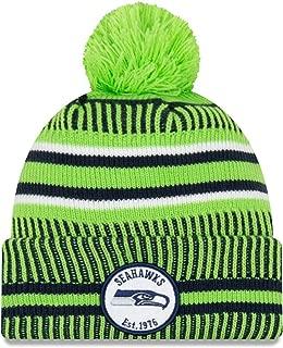 New Era 2019 NFL Seattle Seahawks Cuff Knit Hat REV Home Beanie Stocking Cap Pom