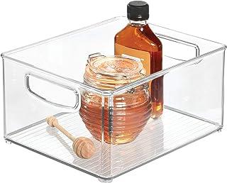 iDesign bac rangement frigo, grande boîte alimentaire spacieuse en plastique, boîte de conservation alimentaire à poignées...